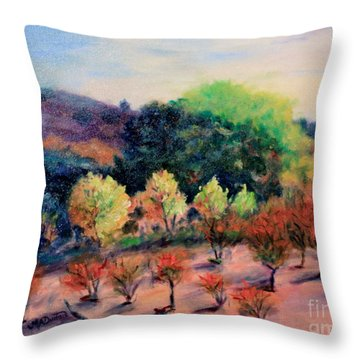 Along The Highway Throw Pillow by Marcia Dutton