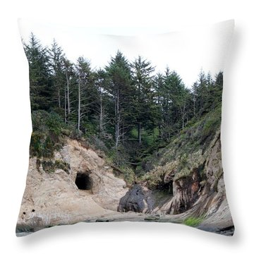 Throw Pillow featuring the photograph Along The Oregon Coast - 2 by Christy Pooschke