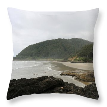 Throw Pillow featuring the photograph Along The Oregon Coast - 3 by Christy Pooschke