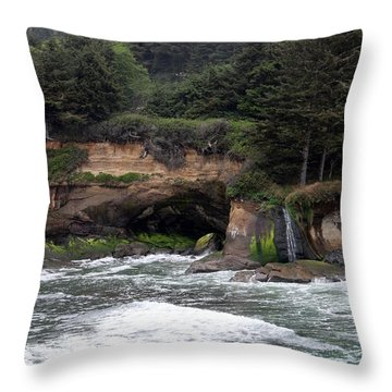 Throw Pillow featuring the photograph Along The Oregon Coast - 5 by Christy Pooschke