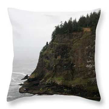 Throw Pillow featuring the photograph Along The Oregon Coast - 6 by Christy Pooschke