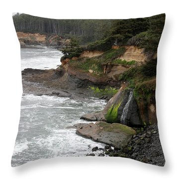 Throw Pillow featuring the photograph Along The Oregon Coast - 7 by Christy Pooschke