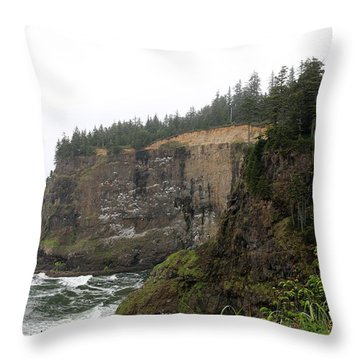 Throw Pillow featuring the photograph Along The Oregon Coast - 8 by Christy Pooschke