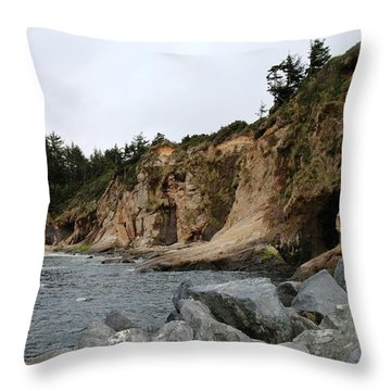 Throw Pillow featuring the photograph Along The Oregon Coast  by Christy Pooschke