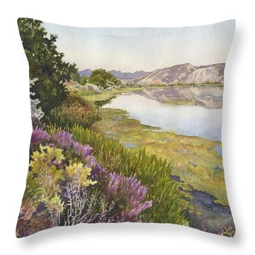 Along The Oregon Trail Throw Pillow by Anne Gifford