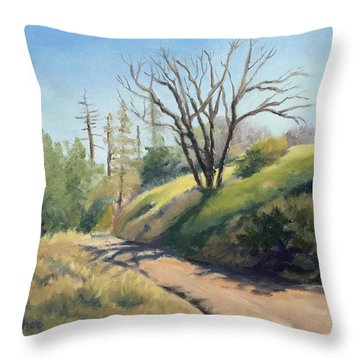 Along The Pacific Crest Trail Throw Pillow