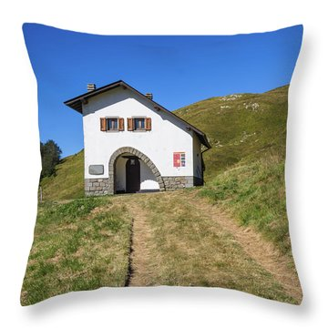 Along The Path Towards The Summit Of The Mountain Throw Pillow