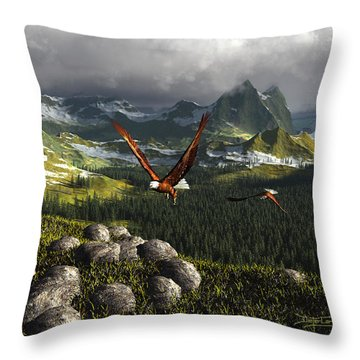 Along The Pinnacles Of Time Throw Pillow
