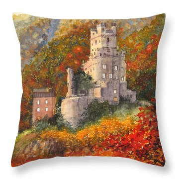 Along The Rhine I Throw Pillow