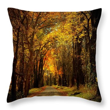 Along The Riverbank Throw Pillow