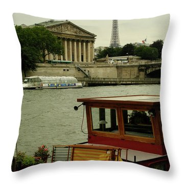 Along The Seine Throw Pillow