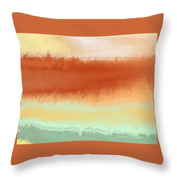 Along The Side Of The Highway Throw Pillow