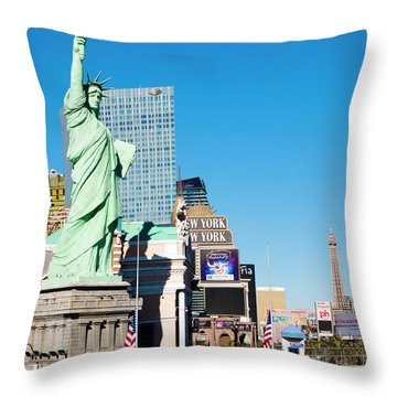 Along The Strip Throw Pillow by Rae Tucker