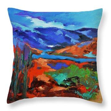 Along The Trail - Arizona Throw Pillow