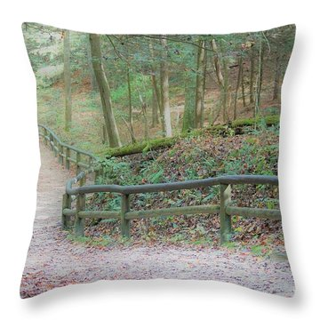 Along The Trail, Life Happens Throw Pillow