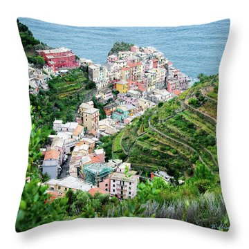 Along The Via Del Amore Throw Pillow by William Beuther