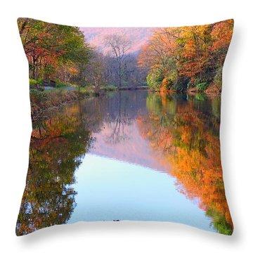 Along These Autumn Days Throw Pillow