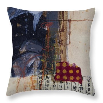 Along This Road Throw Pillow