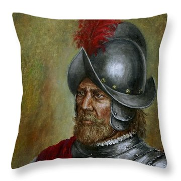 Alonso De Alvarado Throw Pillow by Arturas Slapsys