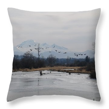 Alouette River Throw Pillow