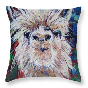 Alpaca Crazed Throw Pillow
