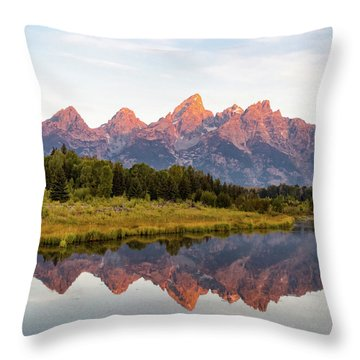 Throw Pillow featuring the photograph Alpen Glow by Mary Hone