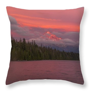 Alpenglow At Lost Lake Throw Pillow