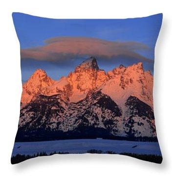 Alpenglow Tetons 2 Throw Pillow