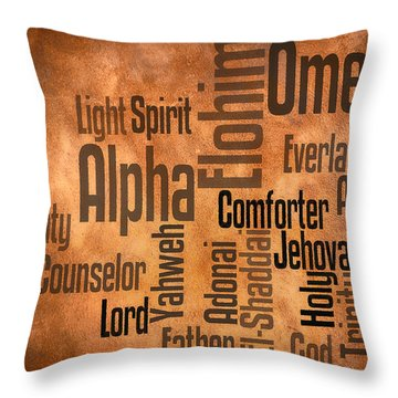 Throw Pillow featuring the digital art Alpha And Omega by Angelina Vick