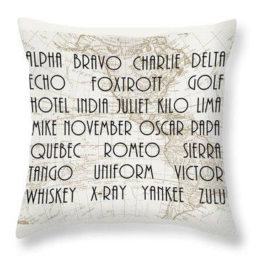 Alpha Bravo Charlie Throw Pillow