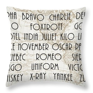 Alpha Bravo Charlie Throw Pillow