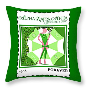 Alpha Kappa Alpha Throw Pillow