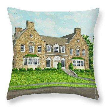 Alpha Tau Omega Throw Pillow by Charlotte Blanchard