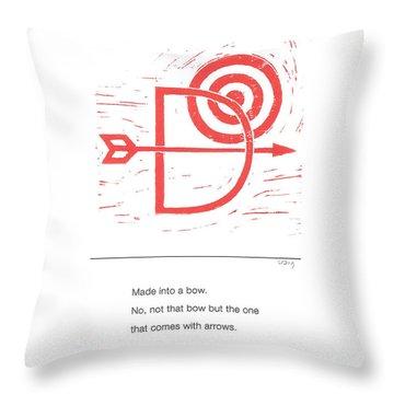 Alphabet Haiku Letter D Throw Pillow