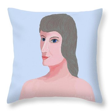 Alphie Throw Pillow by Fred Jinkins