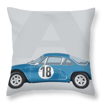 Throw Pillow featuring the mixed media Alpine A110 by TortureLord Art