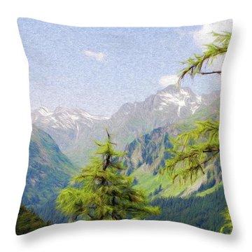 Alpine Altitude Throw Pillow by Jeffrey Kolker
