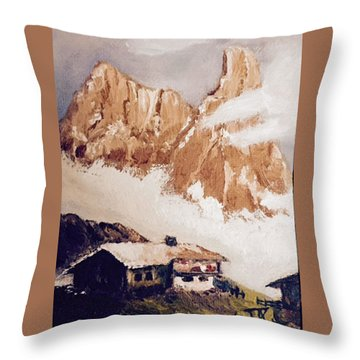 Alpine Home  Throw Pillow