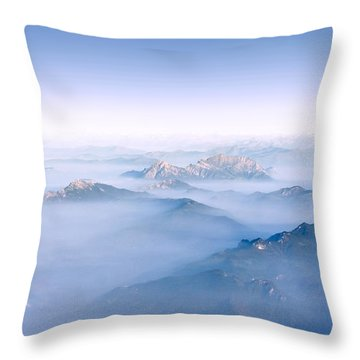 Alpine Islands Throw Pillow