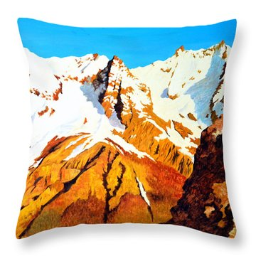 Alpine Landscape Throw Pillow