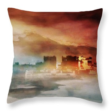 Alpine Landscape II Throw Pillow