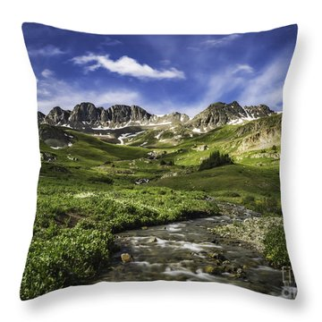 Throw Pillow featuring the photograph Alpine Loop  by Bitter Buffalo Photography