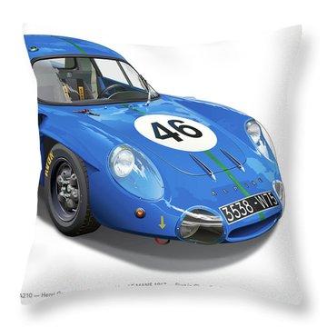 Alpine Renault A210 Throw Pillow by Alain Jamar