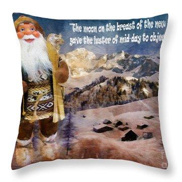 Alpine Santa Card 2015 Throw Pillow
