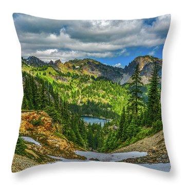 Alpine Solitude Throw Pillow