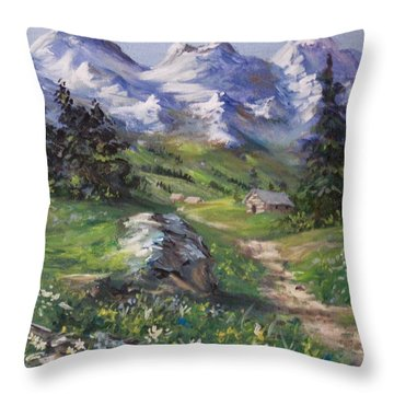 Alpine Splendor Throw Pillow