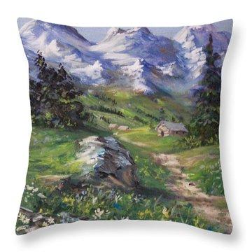 Alpine Splendor Throw Pillow