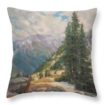 Alpine Spring  Throw Pillow