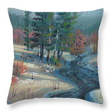 Alpine Stream Throw Pillow by Donald Maier