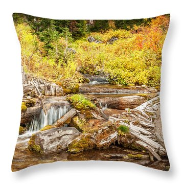 Alpine Waterfall Throw Pillow